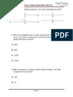 Algebra II (Day-5, Content Test-1)