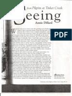 Seeing - Annie Dillard