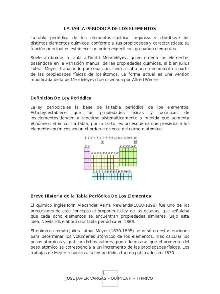 Tabla periodica modificada urtaz Images