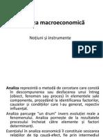 Curs 2 - Analiza Macroeconomica