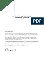 AP 2012 Music Theory Sight Singing Scoring Guidelines