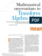 Mathematical Conversations to Transform Algebra Class