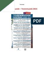Keuzelijst Torenmuziek Beiaard 2015
