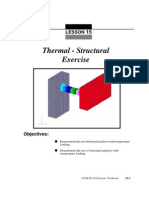 Exercise 15 Thermal-Structural
