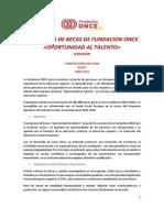 Programa de Becas de Fundacion 2015-2016