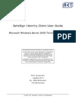 Windows2003 Terminal SafeSign-IC v2.1
