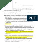 2009 Exam Key 1