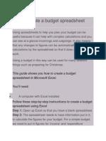 Making Budget