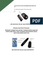 Mouse Scanner Presenter Point Iklan
