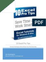 10 Excel Pro Tips eBook - Jon Acampora