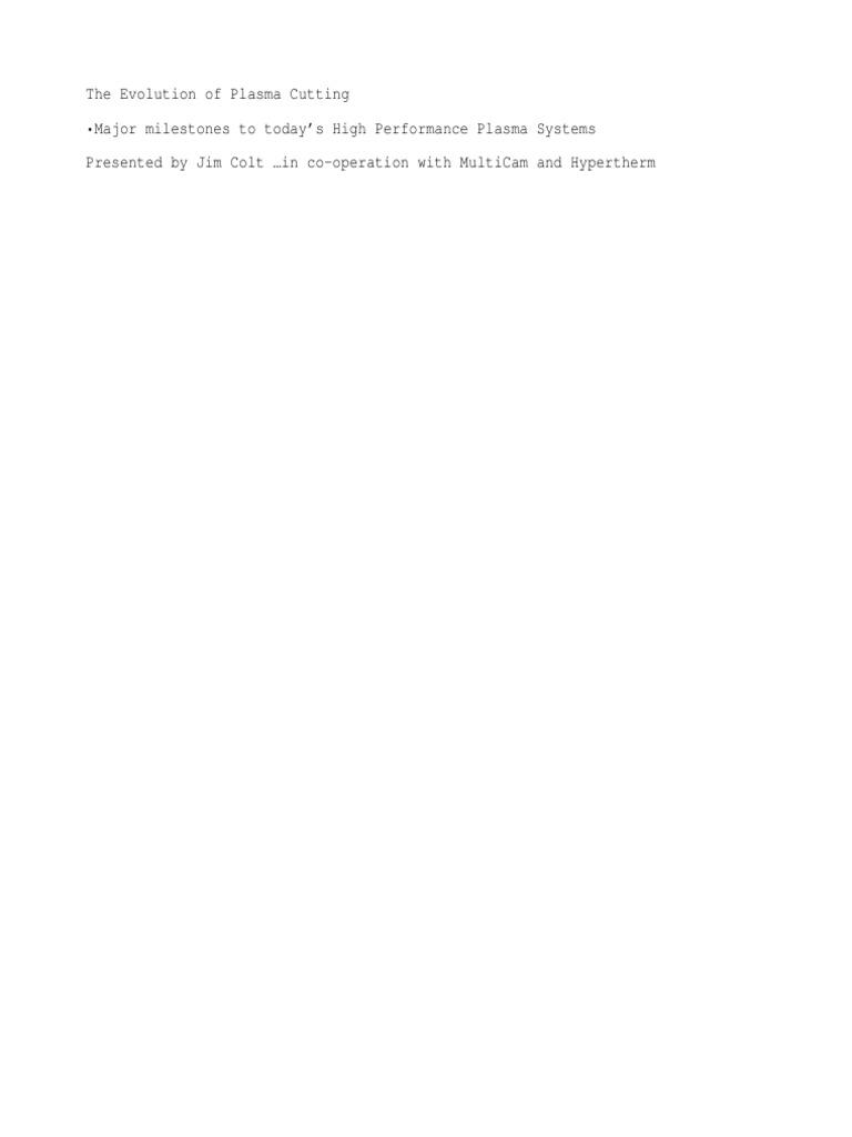 23368166 Plasma Cutting | Plasma (Physics) | Mechanical Engineering