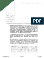 Letter to Samley-Xakellis Re Pflumm Rainville April 28 1998