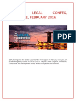 Global Legal Confex, Singapore, February 2016
