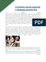 A Rede Social Tumultos Menina Adquirida Pela Imagem Whatsapp Estranho Doc