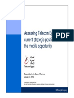 دراسة ماكينزي عن الشركة المصرية للاتصالات
