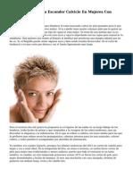 Cortes De Pelo Para Esconder Calvicie En Mujeres Con Alopecia