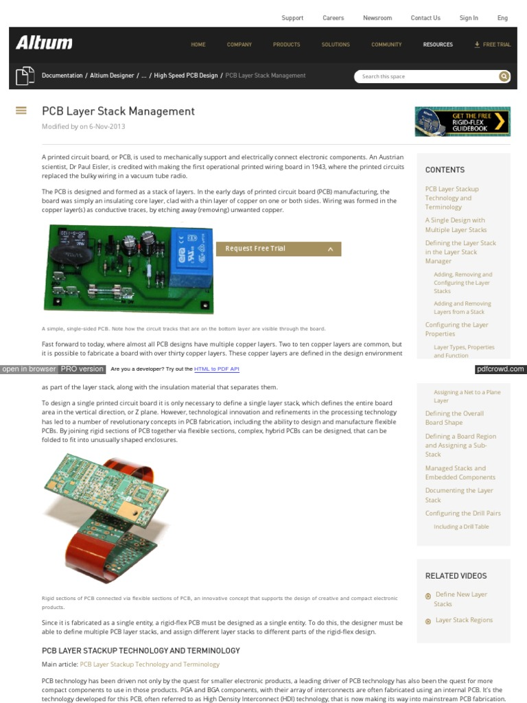 Printed Circuit Board Pdf Techdocs Altium Com Display Adoh Pcb Layer Stack Management Portable Document Format