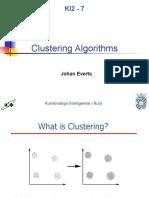 Ki2 s07 Clustering Algorithms