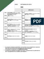 Calendario Septiembre Alumnos - Curso 2014-15