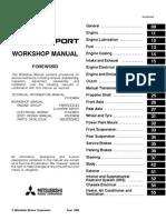 Mitsubishi Pajero Workshop Manual - Index