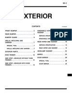 Mitsubishi Pajero Workshop Manual 51 - Exterior