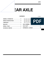Mitsubishi Pajero Workshop Manual 27 - Rear Axle