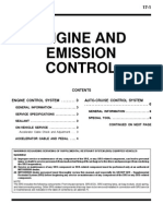 Mitsubishi Pajero Workshop Manual 17 - Engine and Emission Control