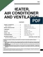 Mitsubishi Pajero Workshop Manual 55 - Heater, AC and Ventilation