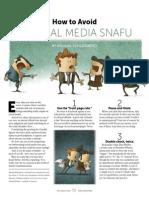 How To Avoid A Social Media Snafu