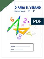 Cuaderno de Verano Matematicas 5EP