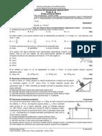 Subiecte Fizică Teoretic Vocațional Bac 2015
