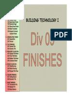 Div09 Finishes