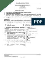 Subiecte Informatică Pascal Științele Naturii Bac 2015