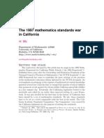 1997 California Math Wars
