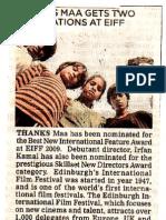 Thanks Maa - NewIndianExpress_Chennai_11_05_09
