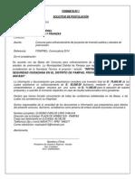 Solicitud de Cofinanciamiento de Estudio Instalacion de Servicios de Seguridad Ciudadana en El Distrito de Pampas-huaraz-Anca