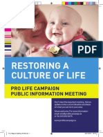 Pro Life Campaign Leaflet for Meetings