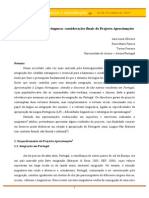 Oliveira, Faneca & Ferreira (2007). Integrar Em Língua Portuguesa Considerações Finais Do Projecto Aproximações 4_Simposio_ Integrar_LP