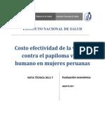 Nota Técnica-7_Costo Efectividad de La Vacuna Contra El Papiloma Virus Humano