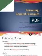 Poisoning; General Principles