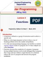Lecture 4. Functions