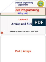 Lecture 5. Arrays and Strings