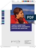 There's Something Missing From Arguments Supporting Abortion