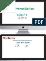 English Pronunciation-lesson 5