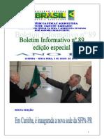 Boletim Informativo SFPA-PR MPA Nº 89 2015