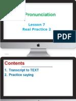 English Pronunciation-lesson 7