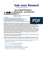 How to Read Financial Statements, Part 1 (Risk Over Reward)