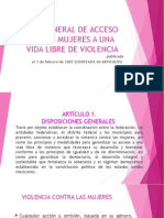 Ley Gneral de Acceso de Las Mujeres a Una Vida Libre de Violencia