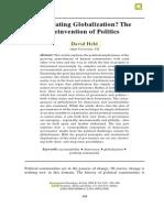 Regulating Globalization? The Reinvention of Politics