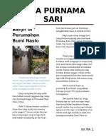 Banjir Di Perumahan Bumi Nasio
